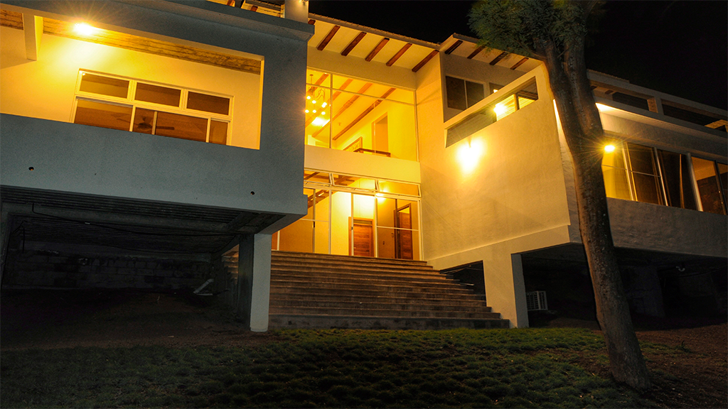 Nicaraguan Pacific back house in the nigth